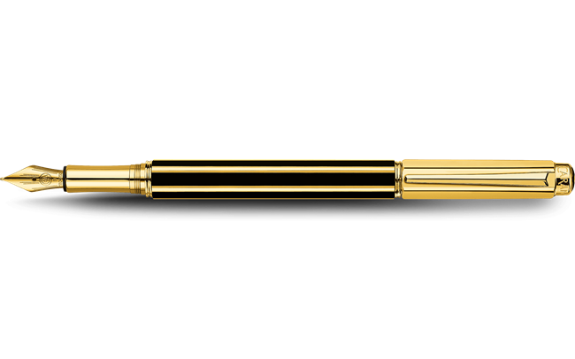 Gold-plated VARIUS CHINA BLACK fountain pen