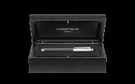 Kugelschreiber VARIUS CARBON versilbert und rhodiniert