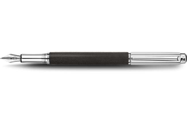 Silver-plated, rhodium-coated VARIUS IVANHOE BLACK fountain pen
