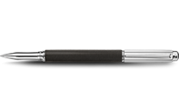 Silver-plated, rhodium-coated VARIUS IVANHOE BLACK roller pen