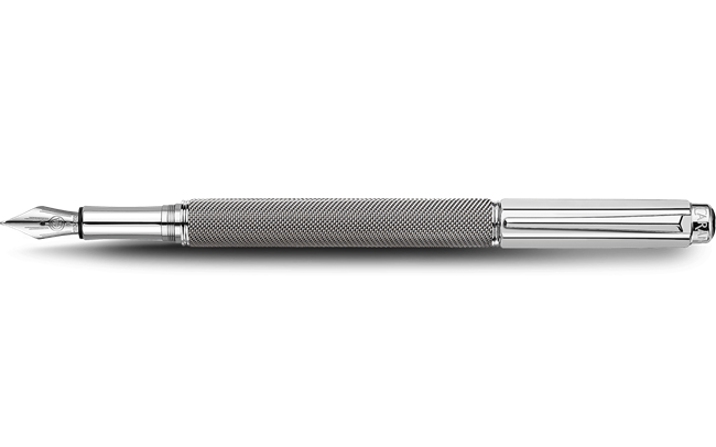 Silver-plated, rhodium-coated VARIUS IVANHOE fountain pen