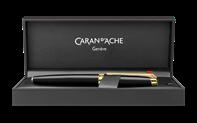 Penna stilografica LÉMAN EBONY NERA placcata oro
