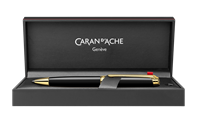 Gold-Plated LÉMAN EBONY BLACK Ballpoint Pen