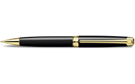 Gold-plated LÉMAN EBONY BLACK mechanical pencil