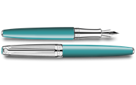 Silver-Plated, Rhodium-Coated LÉMAN BICOLOR Turquoise Fountain Pen