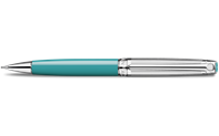 Silver-Plated, Rhodium-Coated LÉMAN BICOLOR Turquoise Mechanical Pencil