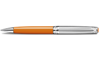 Silver-Plated, Rhodium-Coated LÉMAN BICOLOR Saffron Ballpoint Pen