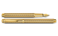 Gold-Plated ECRIDOR CHEVRON Fountain Pen