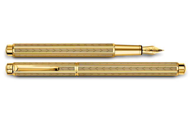 Gilded ECRIDOR CHEVRON Fountain Pen