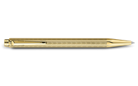Gold-Plated ECRIDOR CHEVRON Ballpoint Pen