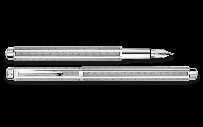 Palladium-Coated ECRIDOR CHEVRON Fountain Pen