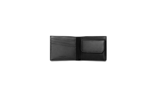 Black 4-card Wallet with Coin Case