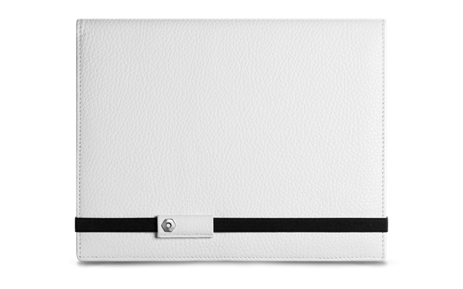 LÉMAN White Leather Notebook A5