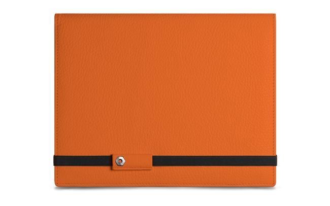 LÉMAN SAFFRON leather notebook A5