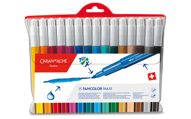 Box of 15 Maxi Fibre-tipped Pens FANCOLOR