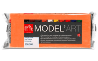 MODEL'ART – Orange solide, bloc 1 kg