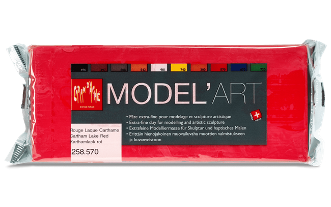 MODEL'ART – Carthaminrot, Block 1 kg