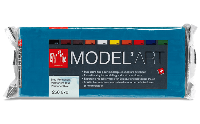 MODEL'ART – Bleu permanent, bloc 1 kg