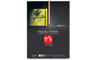 Pastel drawing pad, tinted paper in 3 colours, 24 x 32 cm, 12 sheets