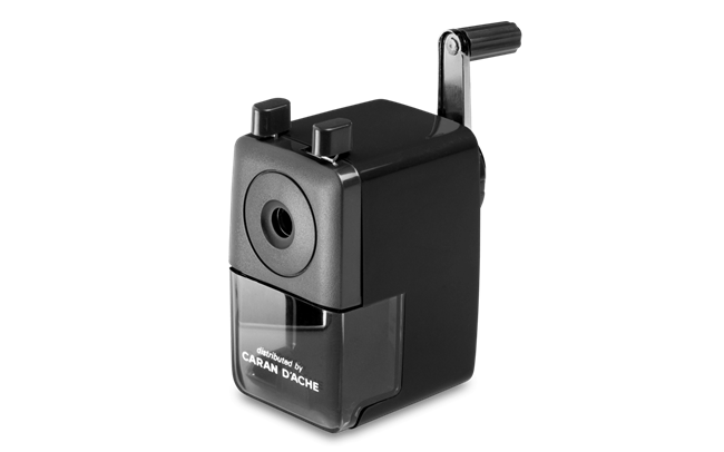 Pencil sharpener, plastic, Black