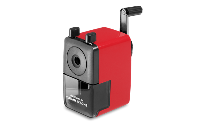 Pencil sharpener, plastic, Red