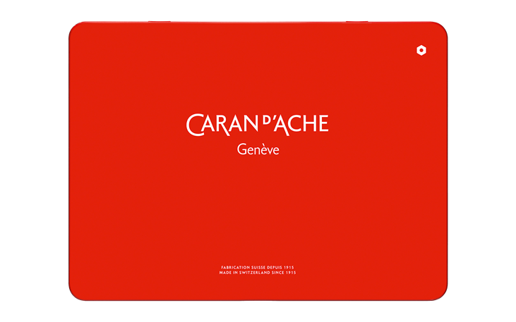 Caran Dache Pablo Set Of 30 Colour Pencils Water Resistant Artist Sketching Metal Case Tin Set 0666/_330