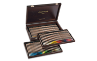 Wooden Box of 84 Colours PASTEL PENCILS
