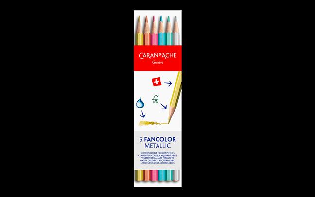 Box of 6 Metallic Colours FANCOLOR