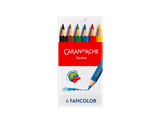 FANCOLOR – Assortiment 6 crayons de couleur Mini