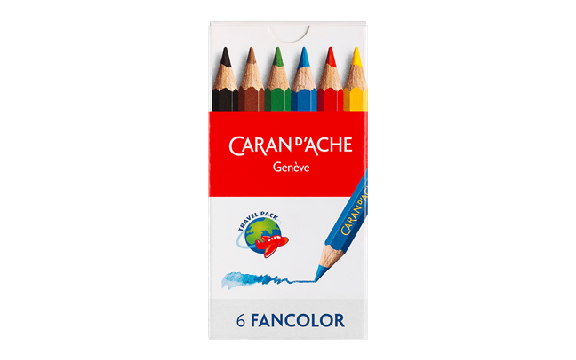 FANCOLOR - Assortment of 6 Mini coloured pencils