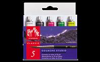Boîte 5 Tubes de Peinture GOUACHE STUDIO 10 ml