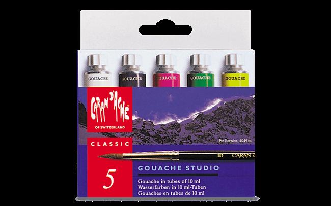Etui 5 Farbtuben GOUACHE STUDIO 10 ml