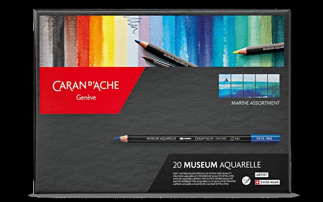 Etui \Marine\ 20 Farben MUSEUM Aquarelle