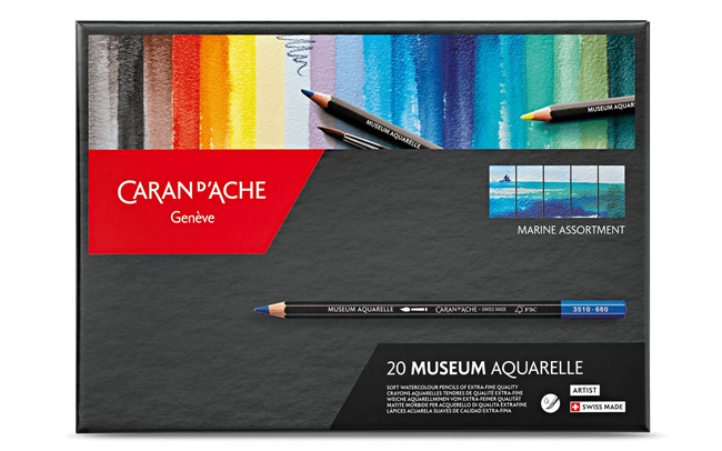Scatola \Marina\ da 20 Colori MUSEUM Aquarelle