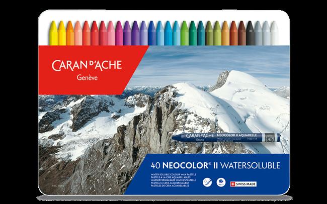 ネオカラーII 水溶性パステル – 40色セット