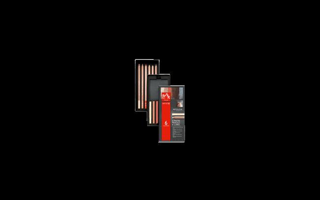 """パステルペンシル&キューブ – """"レタッチ""""セット(6色+6色)"""