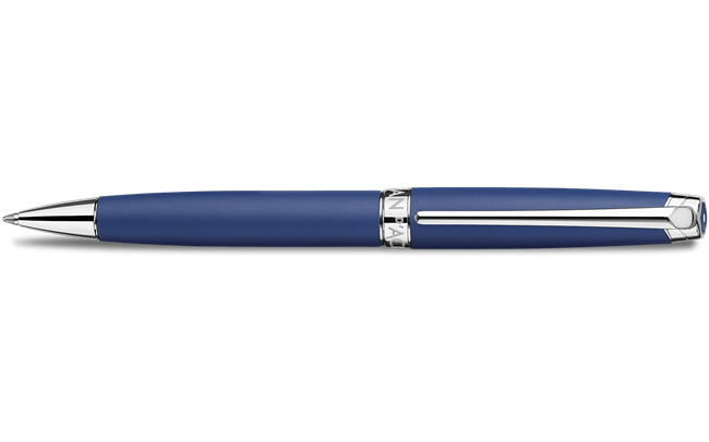 Silver-plated, rhodium-coated LÉMAN BLUE NIGHT MATT ballpoint pen