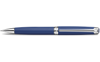 Silver-Plated, Rhodium-Coated LÉMAN Blue Night Matt Mechanical Pencil