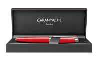 Silver-plated, rhodium-coated LÉMAN SCARLET RED fountain pen