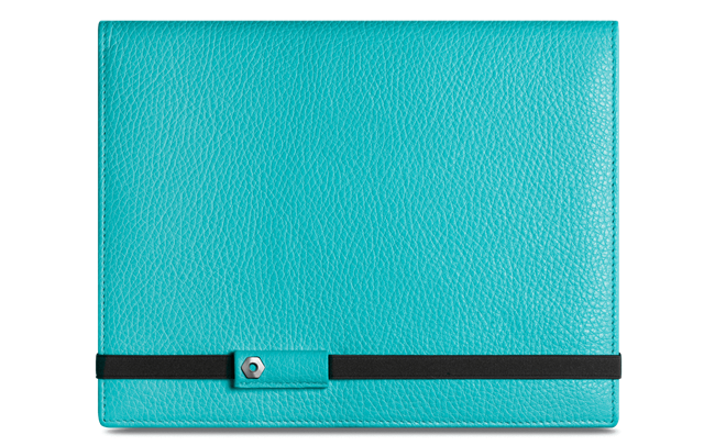 LÉMAN TURQUOISE leather notebook A5