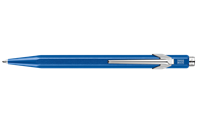 849 POPLINE Metallic Blue Ballpoint Pen, with Holder