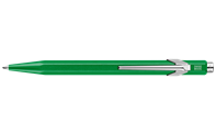 849 POPLINE Metallic Green Ballpoint Pen, with Holder
