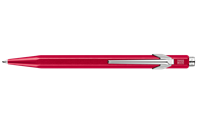 849 POPLINE Metallic Red Ballpoint Pen, with Holder