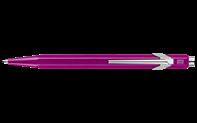 Stylo Bille 849 POPLINE Violet Métallique avec Étui