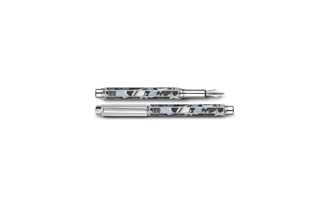 Silver-plated, rhodium-coated VARIUS SILAS fountain pen