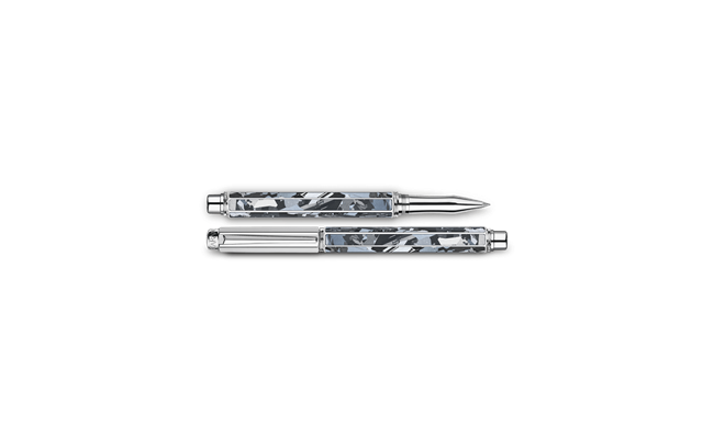 Silver-plated, rhodium-coated VARIUS SILAS roller pen