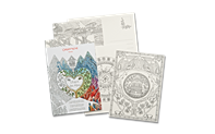 12 colouring postcards L'ESPRIT DES ALPES