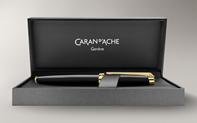 Gold-plated LÉMAN EBONY BLACK fountain pen
