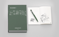 Kugelschreiber 849 Olivschwarz & Buchbox Office