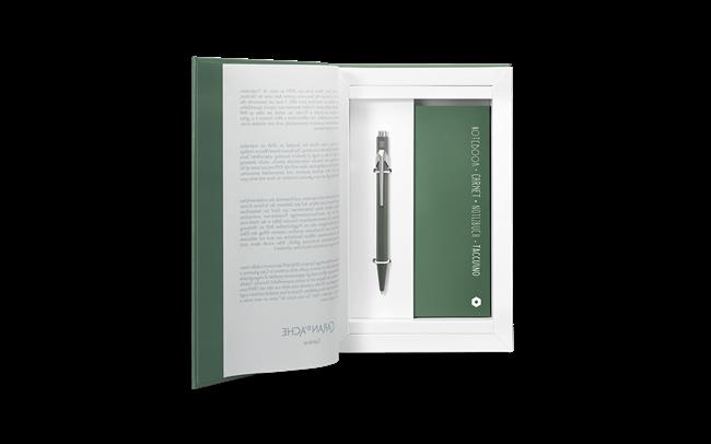 Stylo Bille 849 Olive Noir & Coffret-Livre Office